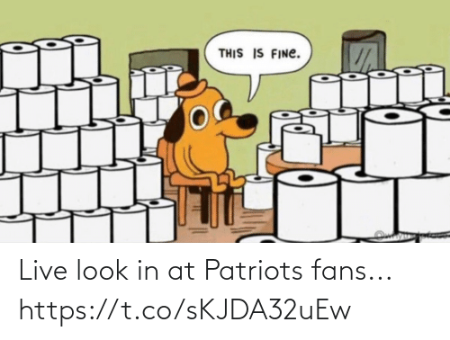 Live: Live look in at Patriots fans... https://t.co/sKJDA32uEw