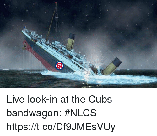 Sports, Cubs, and Live: Live look-in at the Cubs bandwagon: #NLCS https://t.co/Df9JMEsVUy
