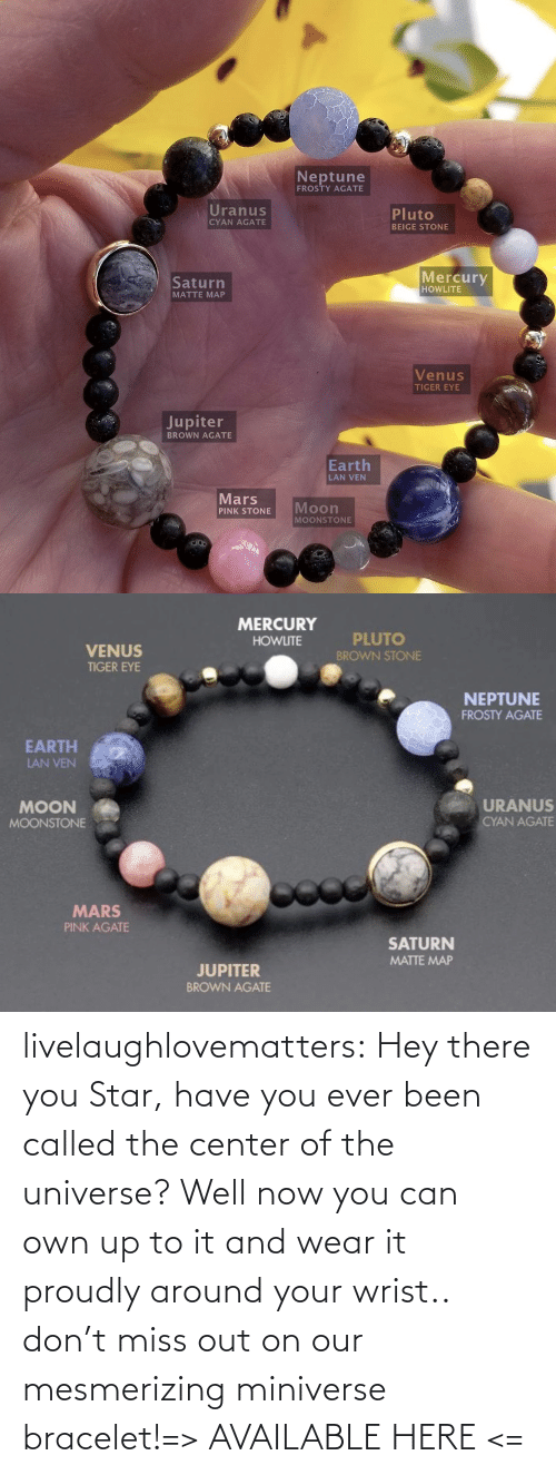 Planets: livelaughlovematters:  Hey there you Star, have you ever been called the center of the universe? Well now you can own up to it and wear it proudly around your wrist.. don't miss out on our mesmerizing miniverse bracelet!=> AVAILABLE HERE <=
