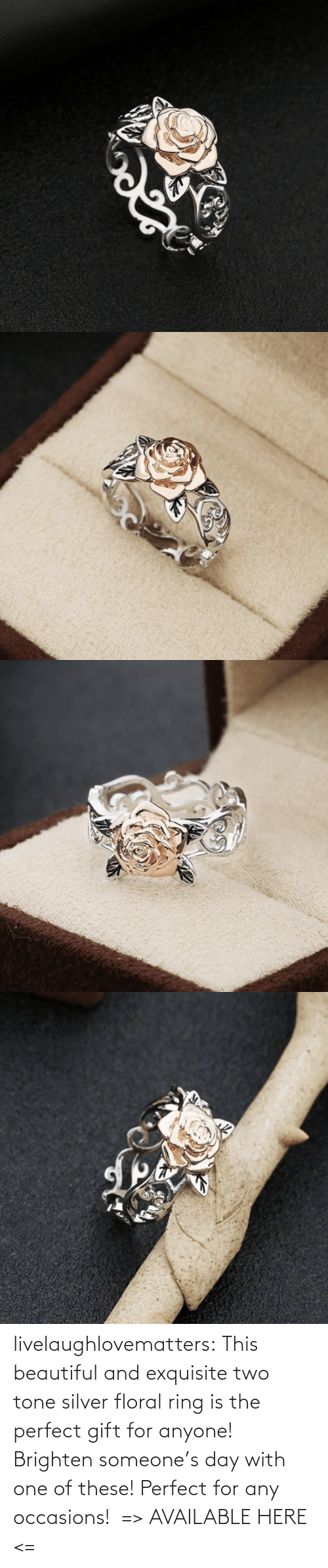 beautiful: livelaughlovematters: This beautiful and exquisite two tone silver floral ring is the perfect gift for anyone! Brighten someone's day with one of these! Perfect for any occasions!  => AVAILABLE HERE <=