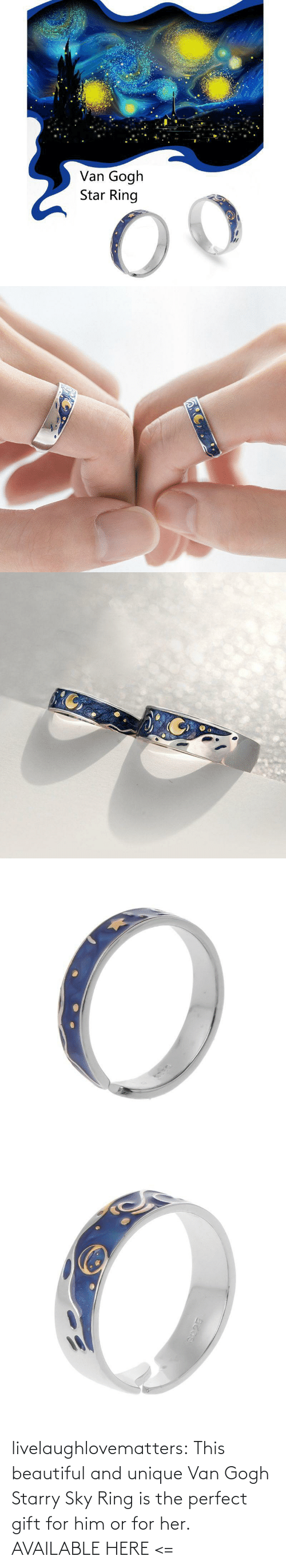 For Her: livelaughlovematters:  This beautiful and unique Van Gogh Starry Sky Ring is the perfect gift for him or for her. AVAILABLE HERE <=