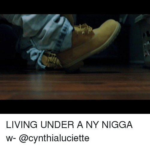 Memes, Living, and 🤖: LIVING UNDER A NY NIGGA w- @cynthialuciette