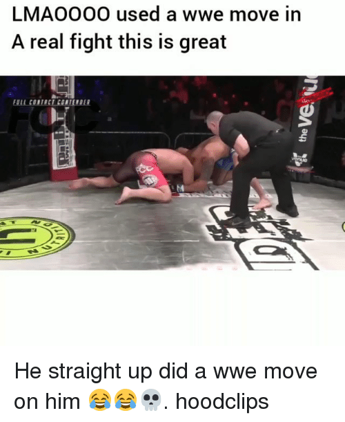 Funny, World Wrestling Entertainment, and Fight: LMAOO00 used a wwe move in  A real fight this is great  FULL CONTACT CONTEMDER He straight up did a wwe move on him 😂😂💀. hoodclips