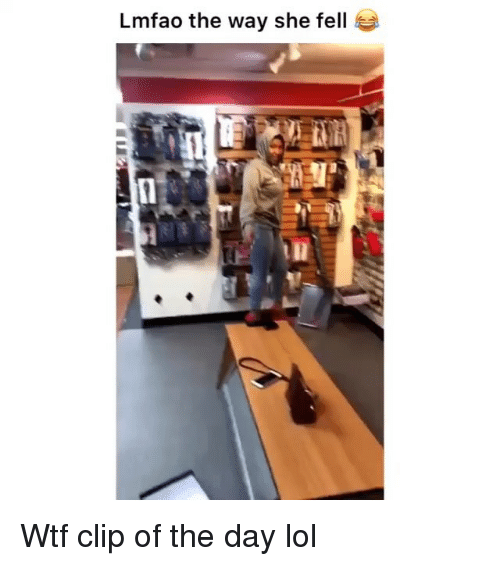 Funny, Lol, and Wtf: Lmfao the way she fell Wtf clip of the day lol