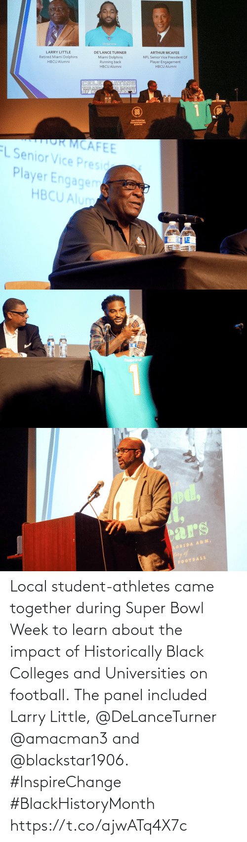Impact Of: Local student-athletes came together during Super Bowl Week to learn about the impact of Historically Black Colleges and Universities on football.  The panel included Larry Little, @DeLanceTurner @amacman3 and @blackstar1906. #InspireChange #BlackHistoryMonth https://t.co/ajwATq4X7c