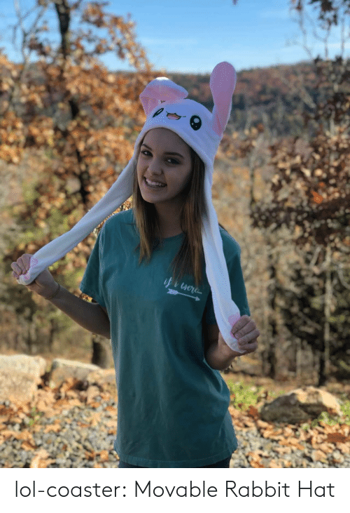 Lol, Tumblr, and Blog: lol-coaster:    Movable Rabbit Hat