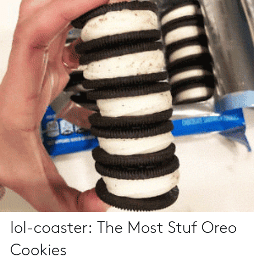 Cookies, Lol, and Tumblr: lol-coaster:  The Most Stuf Oreo Cookies