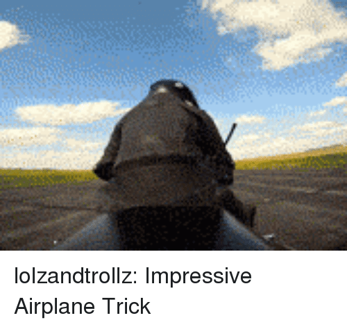 Tumblr, Airplane, and Blog: lolzandtrollz:  Impressive Airplane Trick