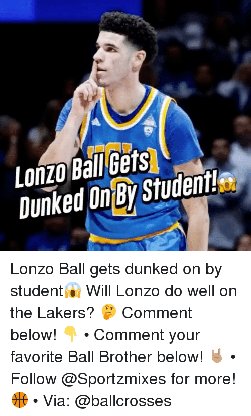 ee730d9d4acf Lonzo Ball Gets DunkedOy Studenit Lonzo Ball Gets Dunked on by ...