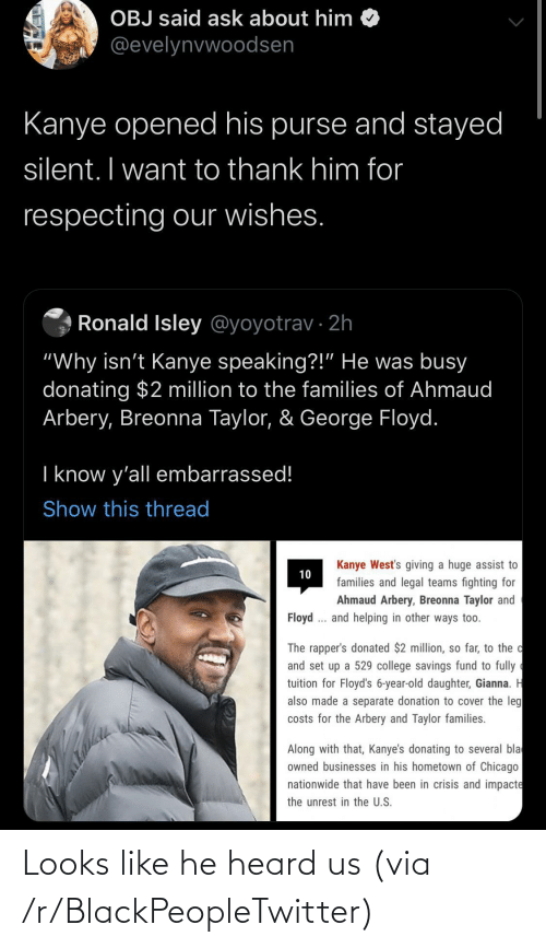 Looks Like: Looks like he heard us (via /r/BlackPeopleTwitter)