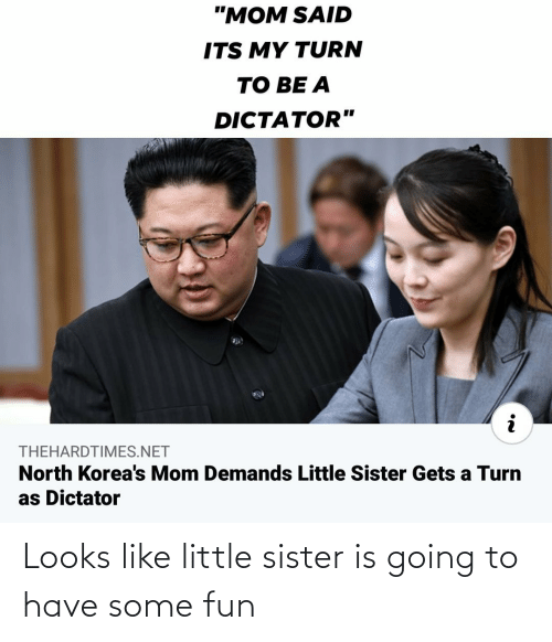 sister: Looks like little sister is going to have some fun
