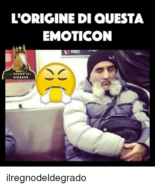 Memes, 🤖, and Emoticon: L'ORIGINE DI QUESTA  EMOTICON  IL REGNO DEL  DEGRADO ilregnodeldegrado