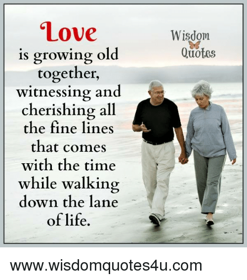 Love Is Growing Old Together Witnessing And Cherishing All The Fine