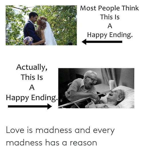 Love Is: Love is madness and every madness has a reason