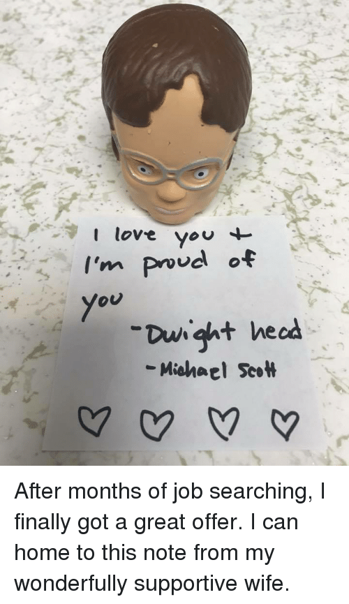 Love You I'm Va O You Dwight Hecd Michael ScoH | Love Meme on ...
