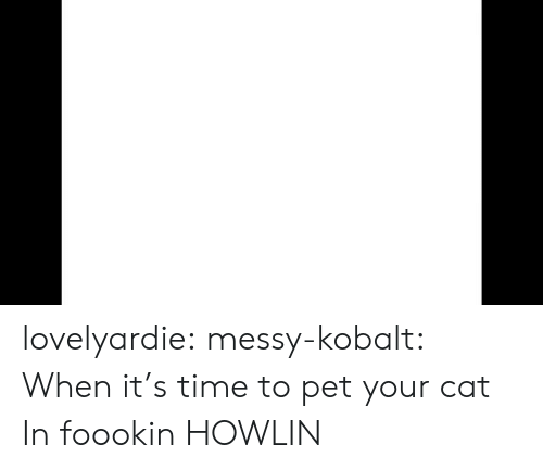 Target, Tumblr, and Blog: lovelyardie: messy-kobalt: When it's time to pet your cat  In foookin HOWLIN