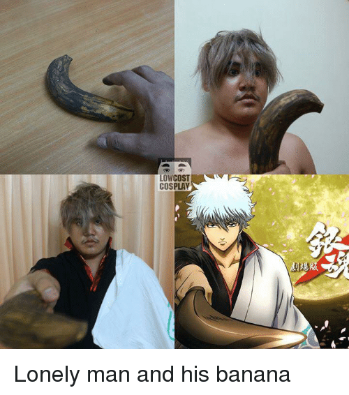 Low Cost Cosplay : LOW COST  COSPLAY Lonely man and his banana