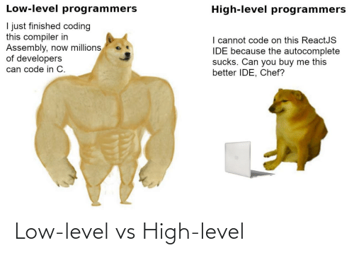 Low: Low-level vs High-level
