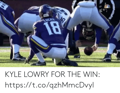 Football, Kyle Lowry, and Nfl: LUCKE  18  SE KYLE LOWRY FOR THE WIN: https://t.co/qzhMmcDvyl