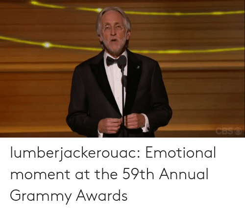Grammy Awards: lumberjackerouac:  Emotional moment at the 59th Annual Grammy Awards