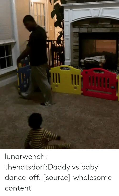 Reddit, Target, and Tumblr: lunarwench:  thenatsdorf:Daddy vs baby dance-off. [source] wholesome content
