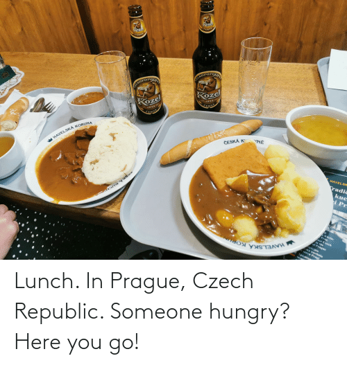 Prague: Lunch. In Prague, Czech Republic. Someone hungry? Here you go!