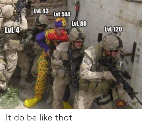 Be Like, Like, and  Like That: LVL43 LvL544  LvL 120  LvL 80  LvL4  TCCO It do be like that