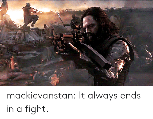 Target, Tumblr, and Blog: mackievanstan:  It always ends in a fight.