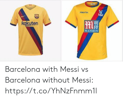 Barcelona: macron  Rakuten  MANSION Barcelona with Messi vs Barcelona without Messi: https://t.co/YhNzFnmm1l