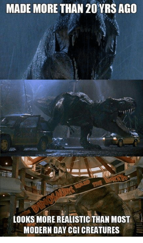 Funny, Creatures, and Cgi: MADE MORE THAN 20YRS AGO  LOOKS MORE REALISTIC THAN MOST  MODERN DAY CGI CREATURES