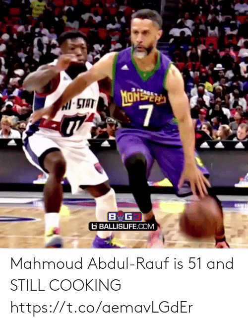 cooking: Mahmoud Abdul-Rauf is 51 and STILL COOKING https://t.co/aemavLGdEr