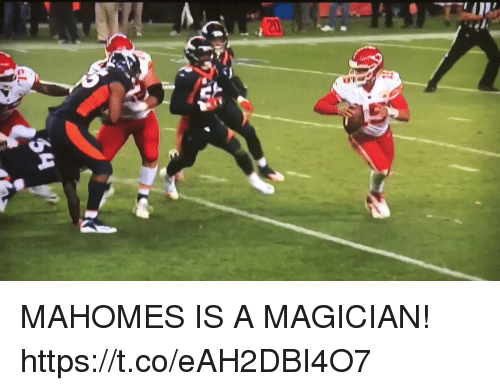 Football, Nfl, and Sports: MAHOMES IS A MAGICIAN! https://t.co/eAH2DBI4O7