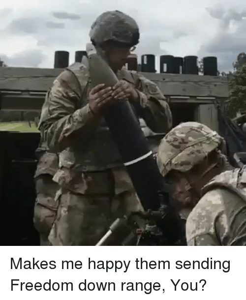 Memes, Happy, and Freedom: Makes me happy them sending Freedom down range, You?