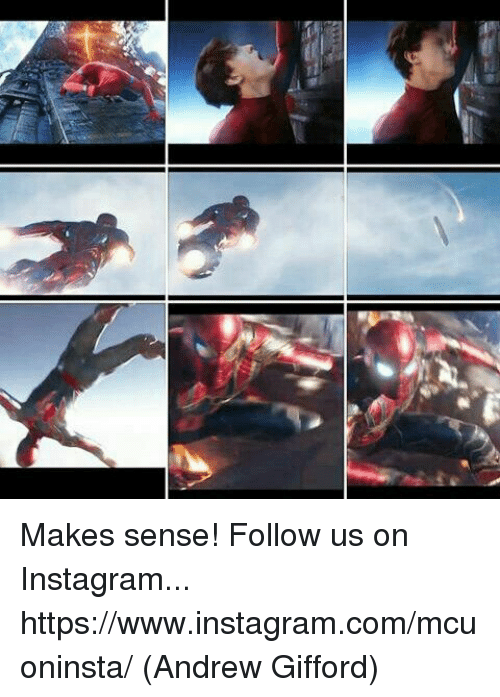 Instagram, Memes, and 🤖: Makes sense!   Follow us on Instagram... https://www.instagram.com/mcuoninsta/  (Andrew Gifford)