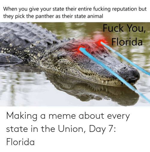 state: Making a meme about every state in the Union, Day 7: Florida
