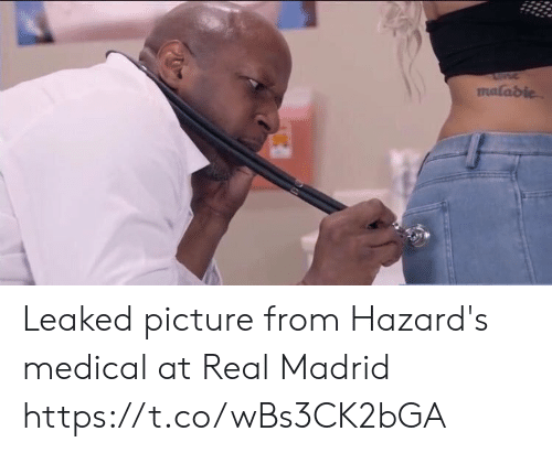 Real Madrid: malabie Leaked picture from Hazard's medical at Real Madrid https://t.co/wBs3CK2bGA