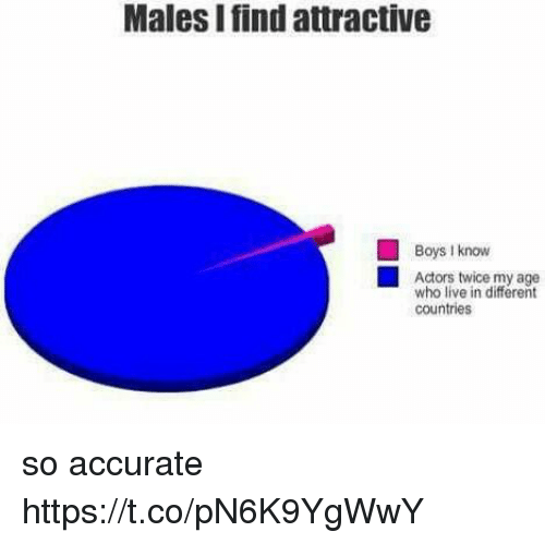 Live, Girl Memes, and Boys: Males I find attractive  Boys I know  Actors twice my age  who live in different  countries so accurate https://t.co/pN6K9YgWwY