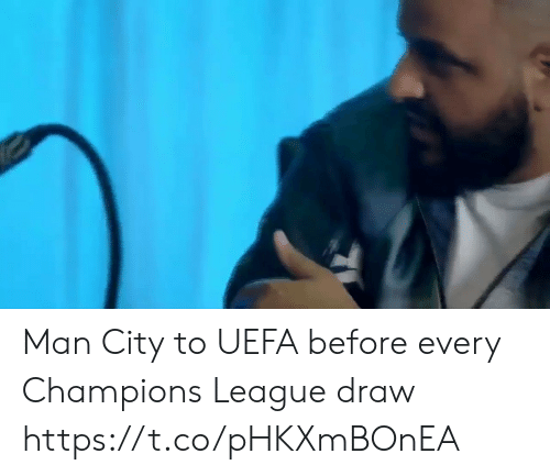 Soccer, Champions League, and League: Man City to UEFA before every Champions League draw https://t.co/pHKXmBOnEA