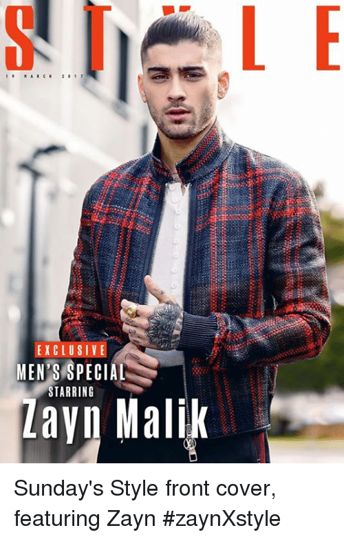 March, Specials, and Menses: MARCH  2 0 1 7  EXCLUSIV  MEN'S SPECIAL  STARRING  Malik Sunday's Style front cover, featuring Zayn #zaynXstyle