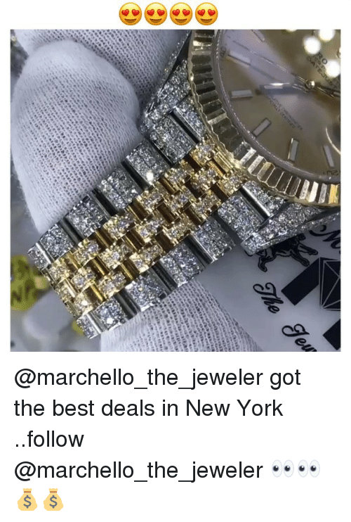 Funny, New York, and Best: @marchello_the_jeweler got the best deals in New York ..follow @marchello_the_jeweler 👀👀💰💰