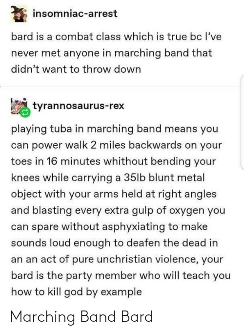 Marching: Marching Band Bard