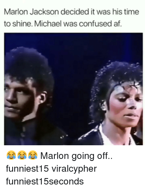 going off: Marlon Jackson decided it was his time  to shine. Michael was confused af. 😂😂😂 Marlon going off.. funniest15 viralcypher funniest15seconds