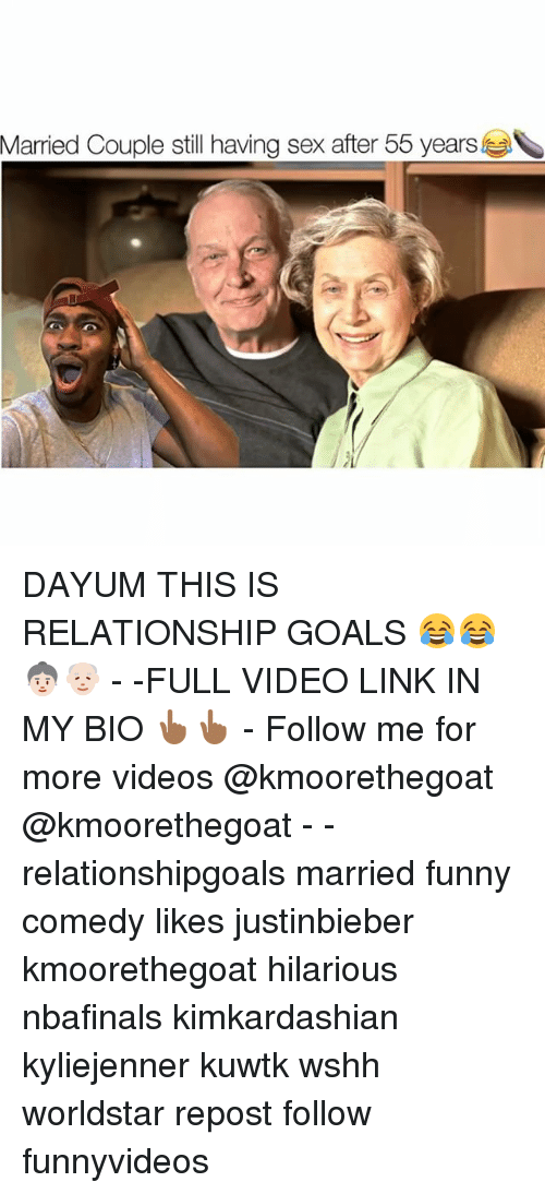 kuwtk: Married Couple still having sex after 55 years DAYUM THIS IS RELATIONSHIP GOALS 😂😂👵🏻👴🏻 - -FULL VIDEO LINK IN MY BIO 👆🏾👆🏾 - Follow me for more videos @kmoorethegoat @kmoorethegoat - - relationshipgoals married funny comedy likes justinbieber kmoorethegoat hilarious nbafinals kimkardashian kyliejenner kuwtk wshh worldstar repost follow funnyvideos