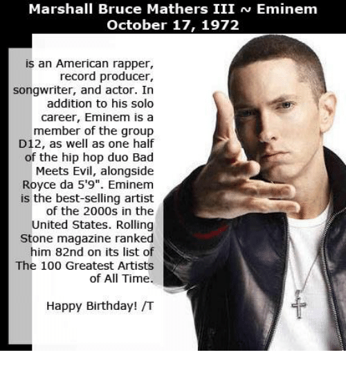 the life and times of marshall bruce mathers iii Updated this is a test on how well you know eminem this uses lyrics and personal his personal life do you really know eminem marshall bruce mathers iii.