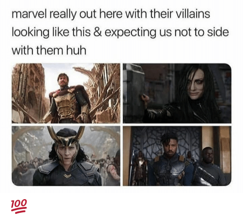 Huh, Memes, and Marvel: marvel really out here with their villains  looking like this & expecting us not to side  with them huh 💯
