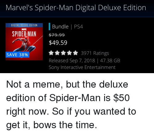 spider man ps4 deluxe edition reddit