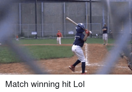 Funny, Lol, and The Game: Match winning hit Lol
