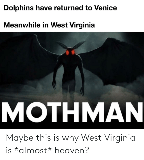 Almost Heaven: Maybe this is why West Virginia is *almost* heaven?