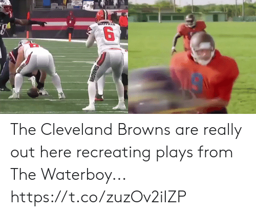 Cleveland: MAYFIELD  SHMD  BROWNS The Cleveland Browns are really out here recreating plays from The Waterboy... https://t.co/zuzOv2iIZP