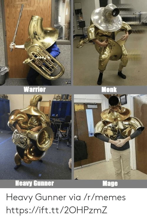 Memes, Warrior, and Monk: MD  Warrior  Monk  Heavy Gunner  Mage Heavy Gunner via /r/memes https://ift.tt/2OHPzmZ